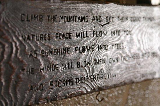 Elk Mountain Lodge:                                     Mantle