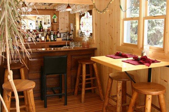 Elk Mountain Lodge:                                     bar area