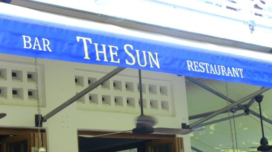 The Sun: outdoor sign