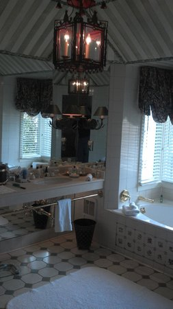 The Inn at Little Washington :                   Bathroom with jaccuzi tub and separate shower