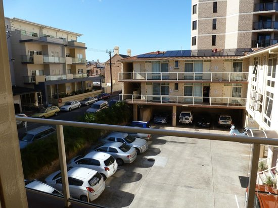 Ensenada Motor Inn and Suites :                                     view from my room 216 at back of hotel & carpark