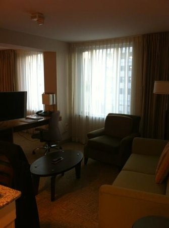 Homewood Suites by Hilton Baltimore:                   King Suite living room