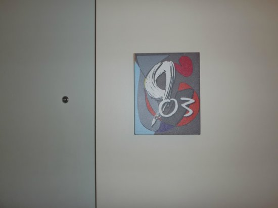 The Picasso Boutique Serviced Residences:                   our room number,artistic design