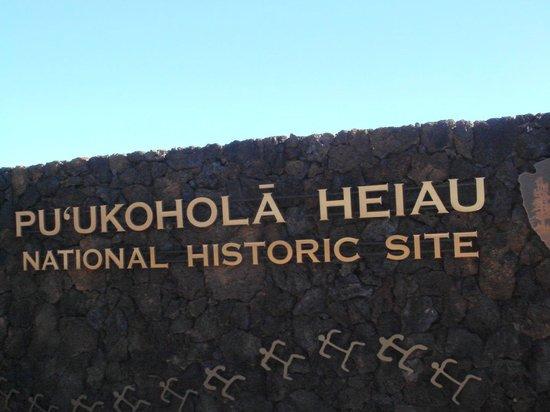 Pu'ukohola Heiau:                   神聖な場所