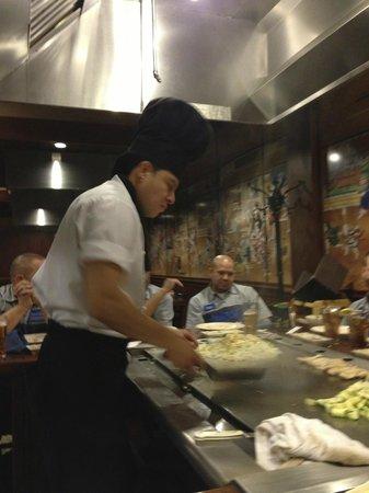 Sakura Japanese Steakhouse:                                     Chef at table