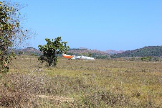 Busuanga Island Paradise:                                     Plane landing at Coron/Busuanga Airport