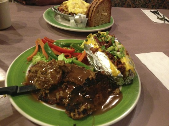 Amy's Omelette House:                                     Meatloaf and baked potato
