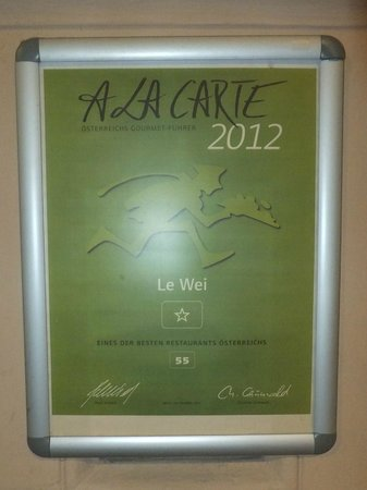 Le Wei Restaurant: Le Wei new award