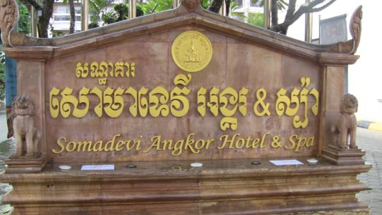 Hotel Somadevi Angkor Resort & Spa: street sign