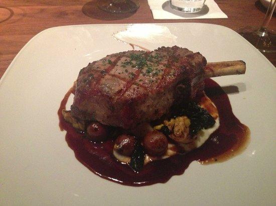 The Ranch Restaurant & Saloon:                                     Snake River Farms Pork Chop