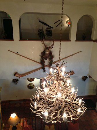 Goldener Hirsch Inn:                   Lobby chandelier