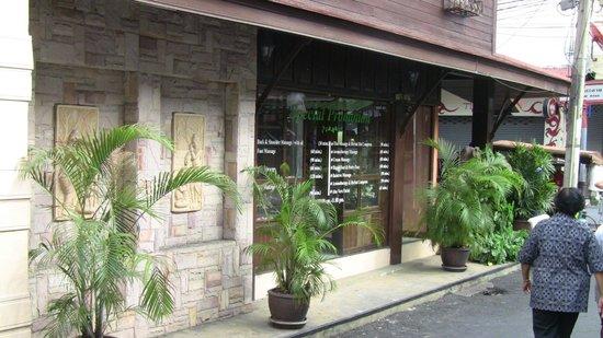 Raintree Spa:                                     view from street
