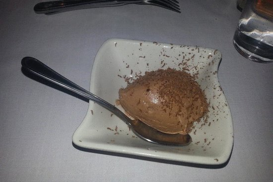 Delio's Italian Restaurant:                   CHOCOLATE MOUSSE WITH SHAVED CHOCOLATE