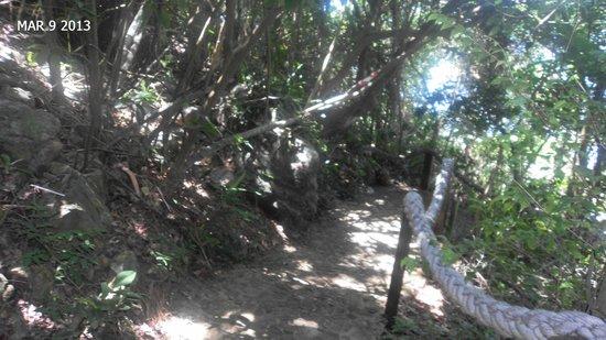 Pousada Enseada das Garcas: mostra de uma das ladeirinhas/rampas de acesso às dependências da pousada, essa é para ir até a