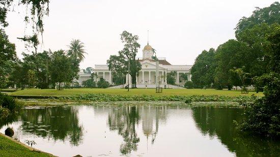 Bogor Palace:                   The back view seen from Bogor Botanical Garden