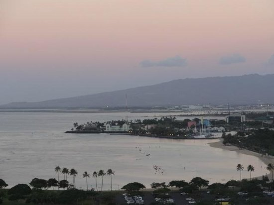 Ilikai Hotel & Luxury Suites:                   one of the many beautiful sunsets from my room