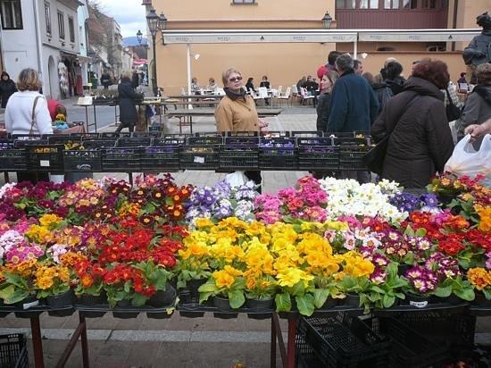 Hotel Jagerhorn: цветочный рынок 8 марта