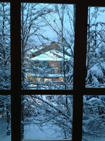 Whistler Peak Lodge:                   Bedroom Window Christmas 2012