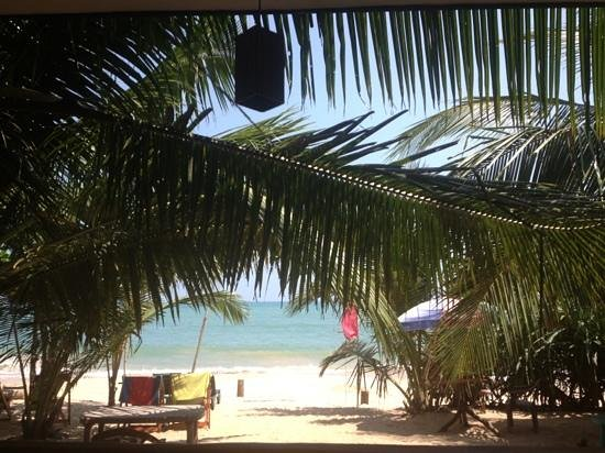 Frangipani Beach Villa Restaurant:                   view from the restaurant