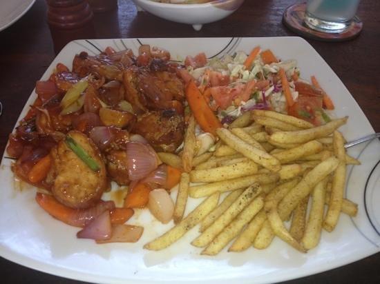 Frangipani Beach Villa Restaurant:                   deviled chicken