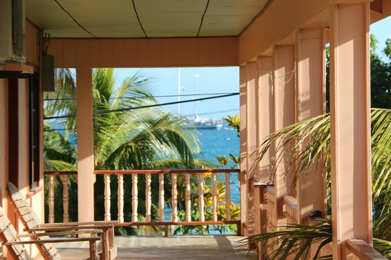 Hotel Margarita Bay:                                                       the lovely porche
