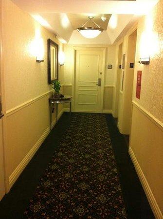 San Carlos Hotel:                   hotel corridor 8th floor