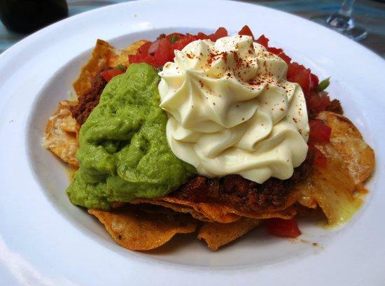 Flatwhite:                   Nachos with avocado, sour cream, salsa & corn chips