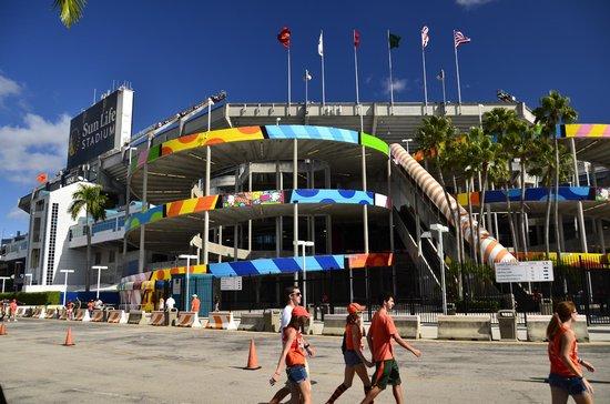 a corner of sun life stadium
