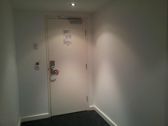 View from balcony to front door. Bed faces gl mirrors, not tv ... Entrance Doors Wollongong on