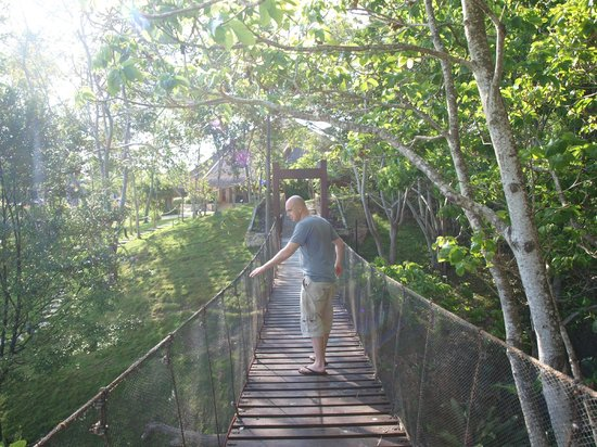 Eskaya Beach Resort & Spa:                   hanging bridge