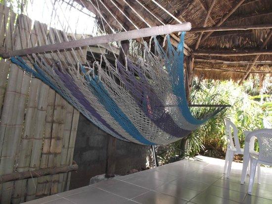 Bambu Hostel : Vue sur hamac de mon hamac !  Février 2013.