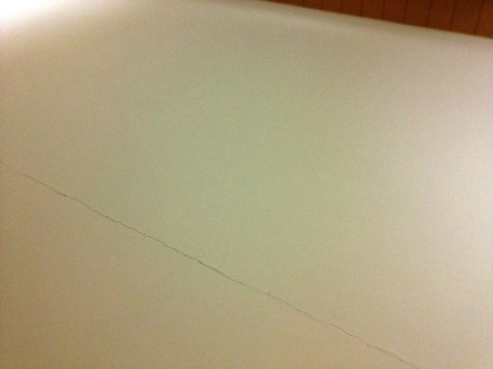Wyndham Garden Newark Airport:                   Crack in the ceiling of our room.
