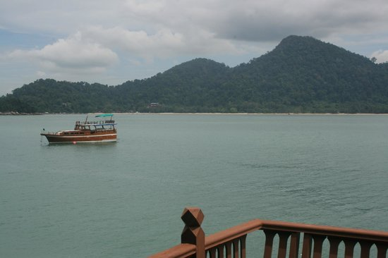 Pangkor Laut Resort:                   View from the deck