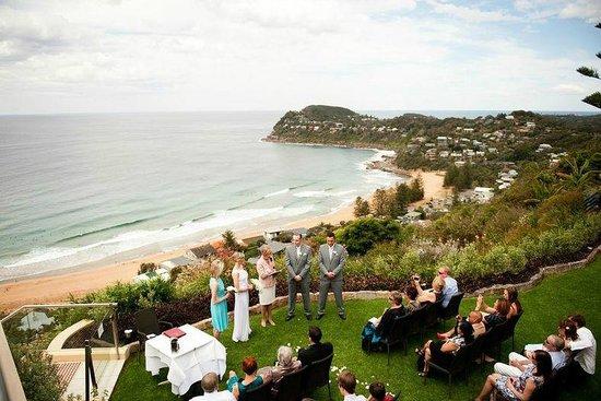 Jonah's Whale Beach:                   Wedding ceremony garden
