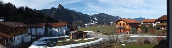 Knöpfle's Ferienwohnungen: Uitzicht vanaf ons balkom