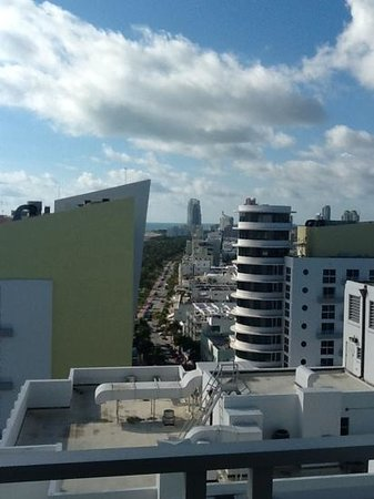Loews Miami Beach Hotel:                   View up Ocean Drive from 17th floor premium room