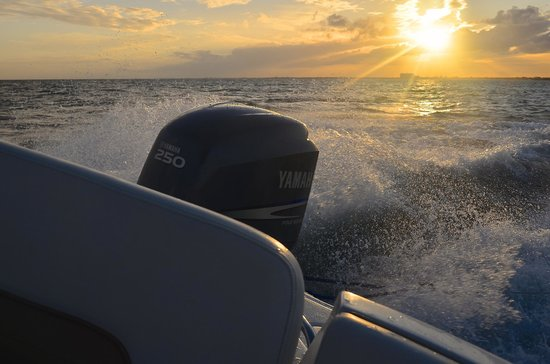 American WaterSports :                   coucher de soleil