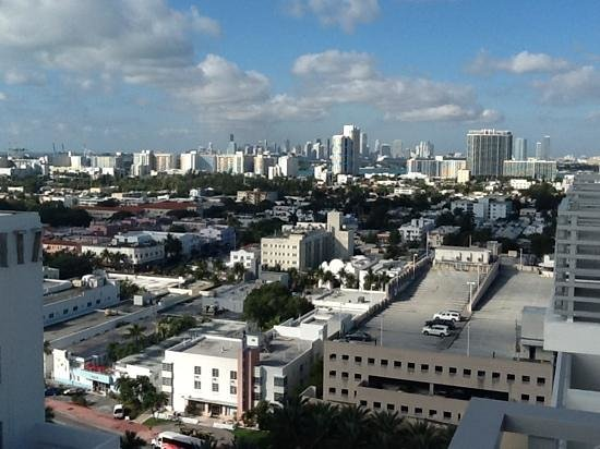 Loews Miami Beach Hotel:                   City view from 17th floor premium room