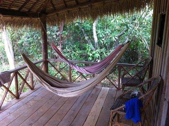 Lazy Beach:                   hammocks on the porch