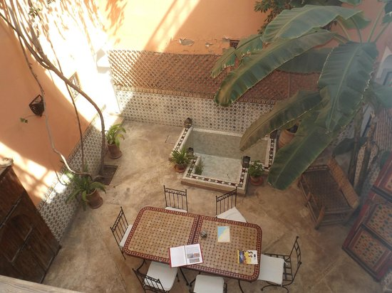 Riad Ineslisa:                   View from the balcony