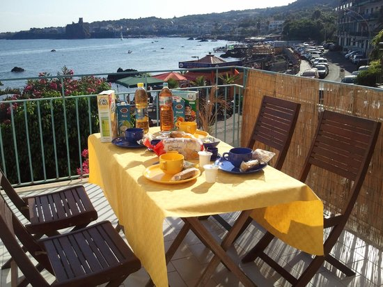 B&B Oasis: Colazione in terrazzo