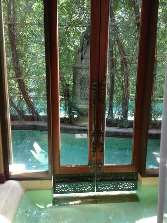 The Baray Villa:                   lounge looking out to pool