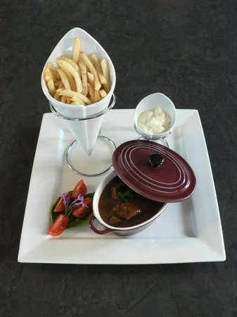 Mountain View Lodge Montagu:                                     The Belgian restaurant serves Belgian and South African food