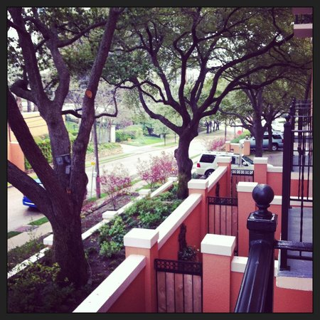Rosewood Mansion on Turtle Creek:                   View from room 220