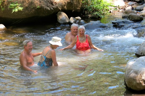 Vandara Hot Springs & Adventure:                   washing off the mud
