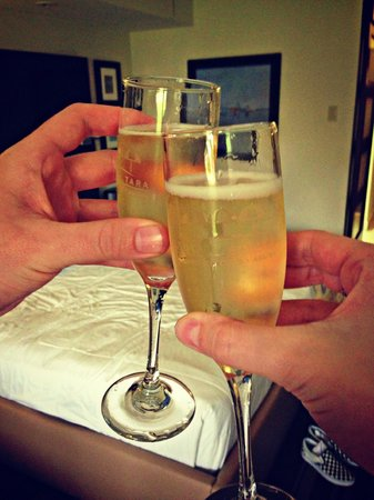 Bucuti & Tara Beach Resort Aruba:                   Champagne toast upon arrival!