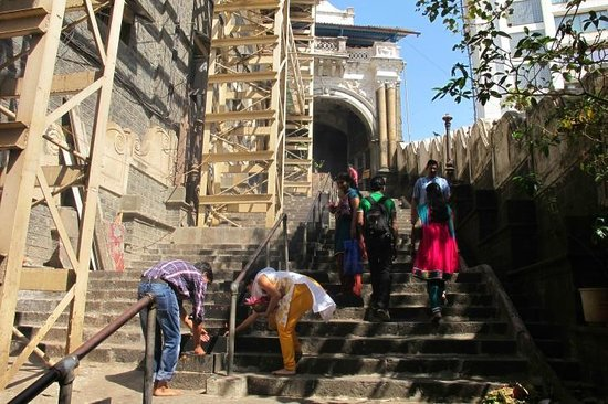 Babulnath Temple:                   Steps leading up