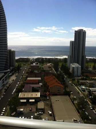 Meriton Serviced Apartments - Broadbeach:                   view from balcony
