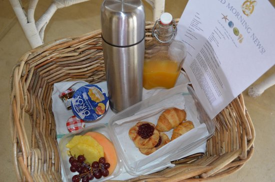 Kamalame Cay:                   Breakfast Basket Left On Porch Every Morning