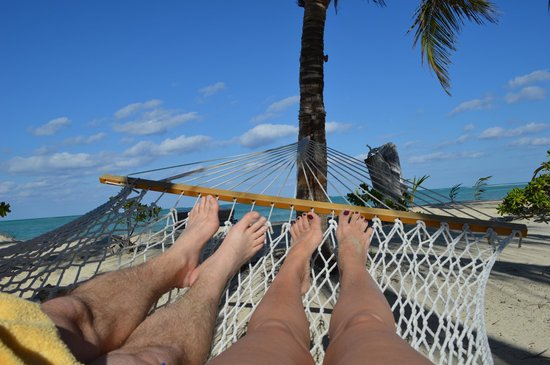 Kamalame Cay:                   Our feet enjoying the view at our cottage